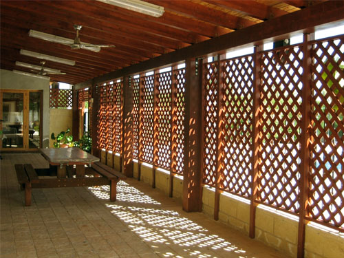 Celosia de madera celosias jardin celosias para terrazas for Celosia terraza