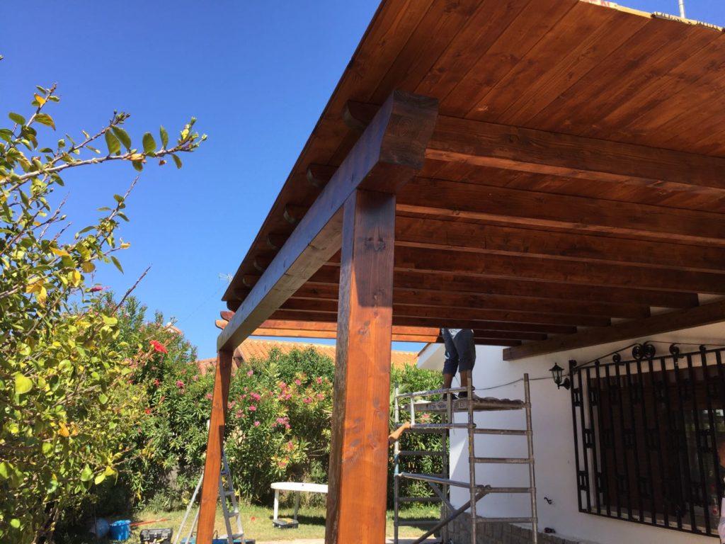 Pergolas jardin baratas hacer un porche de madera a for Carpas jardin baratas