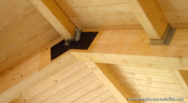 Precio panel sandwich madera paneles de madera for Tejados de madera para jardin