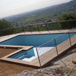 tarima IPE en piscina en construcción