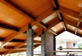 maderas de viroc en un techo