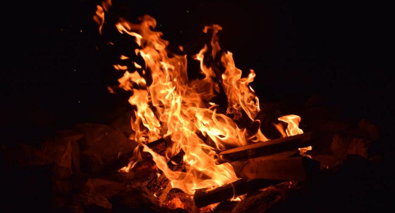 crepitar del fuego