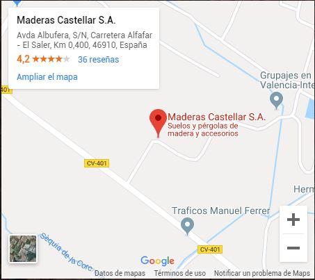 maderas castellar en maps
